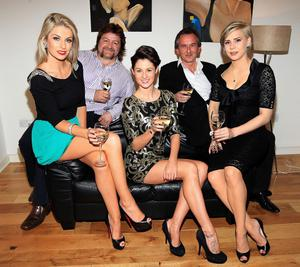 Tv3 Celebrity Come Dine with me......................Pippa O Connor,Shane Byrne ,Madeline Mulqueen,Michael O Doherty and Holly SweeneyPicture :Brian McEvoy/Tv3
