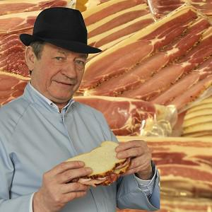 Master Butcher Keith Fisher, who will have his taste buds insured for one million pounds