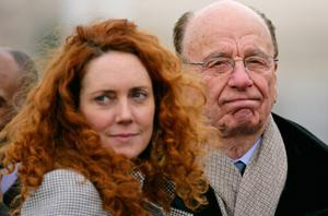 Rebekah Brooks with Rupert Murdoch. Photo: Getty Images