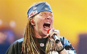 Axl Rose of Guns 'n Roses Photo: AFP/Getty Images