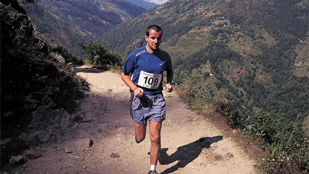Richard Donovan running in the Himalayas. Photo: PA