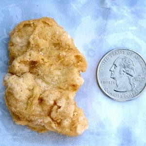 A McDonald's Chicken McNugget found by Rebekah Speight of Dakota City, which resembles President George Washington (AP/Sioux City Journal, Nathan Robson)