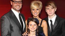 Keith Duffy with wife Lisa Duffy and children Mia Duffy and Jordan Duffy pictured at  The 5th  Keith Duffy Masquerade ball in aid of Irish Autism Action and Saplings School  in Dublin at the Radisson  Hotel Dublin Pix Brian McEvoy4/12/10