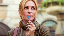 Living well: Julia Roberts in the film adaptation of 'Eat Pray Love'