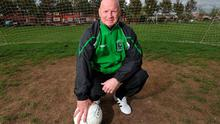 David Speedie pictured in his Francis AFC tracksuit before a recent match in Finglas. Photo: Damien Eagers