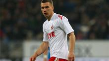 Lukas Podolski: rumoured to be Arsenal bound in the summer. Photo: Getty Images