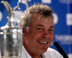 Darren Clarke at a press conference this morning