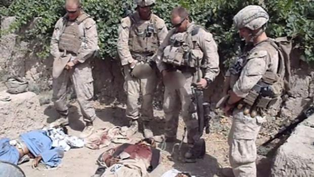 Marines allegedly urinating on corpse