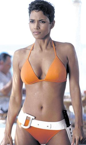 Halle Berry in her orange bikini from 'Die Another Day'
