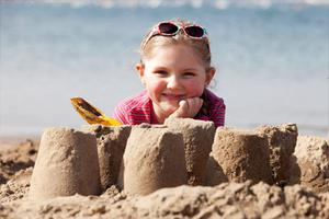 Shannon Dowling (5) at Portmarnock Beach yesterday