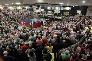 More than 3,000 people protested against the household charge at Dublin's National Stadium over the weekend. The event was organised by the Campaign against Household and Water Taxes