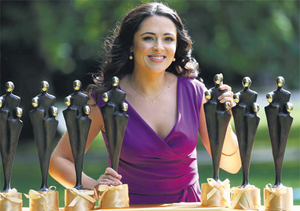 TV presenter Grainne Seoige launched the People of the Year awards yesterday, which she will host this Saturday.