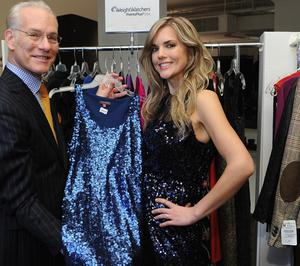 Tim Gunn and Weight Watchers member Abby Dale in New York.