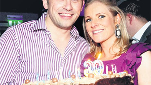 Alan Brogan with his wife Lydia, in Buck Whaley's, celebrating his 30th birthday at the weekend
