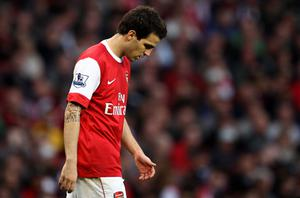 Fabregas: Frustrated by interest from Real Madrid. Photo: Getty Images
