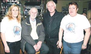 At the launch of the Ballybunion Angling and Marine Festival at The Cashen Bar on Friday night were Maura Hanrahan (left) with special guest, Bob Moss, angling writer and commentator; Mike Enright, festival committee and Kate Mccarthy. Credit: Photo by John Reidy