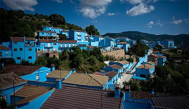 Since filming the hillside village has become a huge tourist attraction. photo: Getty Images