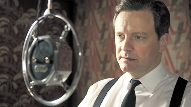 Colin Firth in a scene from 'The King's Speech', in which he plays King George VI