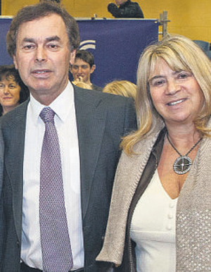 Justice Minister Alan Shatter and his wife, Carol.
