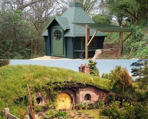 Now a small campsite in Cornwall is offering a 'Hobbit Hut' for rent (top).