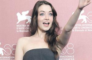Actress Sarah Bolger during a photocall for the film 'The Moth Diaries' at the 68th Venice Film Festival yesterday