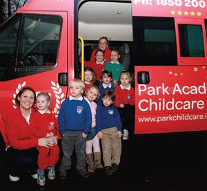 The 'Little Smarties class' and their carers in Bray head off on a trip on the Park Academy Party Bus