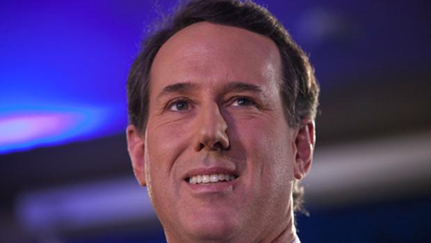 Republican presidential hopeful and former U.S. Sen. Rick Santorum addresses a crowd at the Stoney Creek Inn on January 3, 2012 in Johnston, Iowa. Santorum, who was polling in the single digits until recently, is expected to finish first or second in today's Iowa caucus. Photo: Getty Images