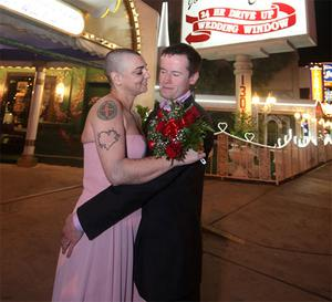 Sinead O'Connor and Barry Herridge wedding day.