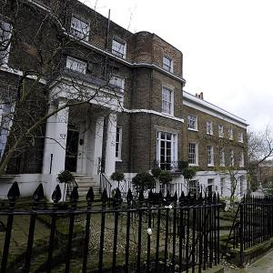 Campden Hill Square has been named as the most expensive residential street in England and Wales