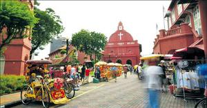 The port city of Melaka and its imposing Christ Church is two hours from KL