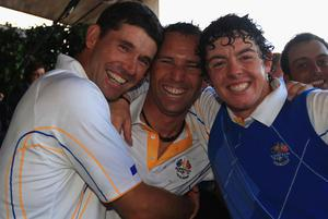Padraig Harrington and Rory McIlroy will be playing in Kingsbarns tomorrow. Photo: Getty Images