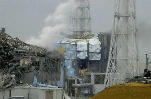 Reactors three and four of the quake-hit Fukushima nuclear plant in Japan