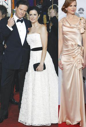 From left Colin Firth, his wife Livia and Nicole Kidman