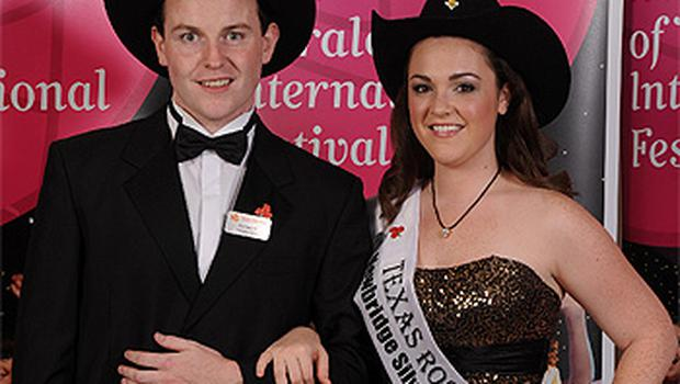 Texas Rose Adrienne Hussey with her boyfriend Eoin Treanor, from Monaghan, who had been her escort at the 2010 Rose of Tralee