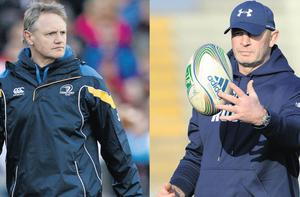 Leinster boss Joe Schmidt (L) was Vern Cotter's right-hand man in Clermont