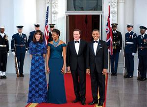 Mr and Mrs Cameron join President and Michelle Obama at a White House dinner in their honour