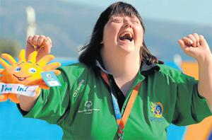 Mary Gavin smiles as she is announced as the silver medal winner