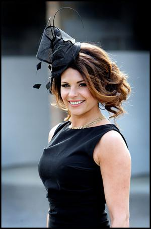 Pictured at  the Irish National Hunt Festival at Punchestown yesterday was TV Presenter Lisa Cannon.Pic Steve Humphreys3rd May 2011.
