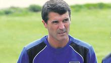 Roy Keane is pictured after he took over at Ipswich Town in April 2009