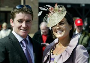 Jockey Barry Geraghty who met his wife Paula as he was celebrating a few wins at Ballybrit. They married in January of this year. Photo: Martin Nolan