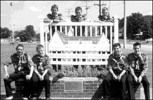 Members of Dundalk Venture Scouts at the outskirts of Dundalk, Maryland, from left, Joseph Hughes, Aidan McGuinness, Christopher Browne, Fintan Sheridan, Gary McGuinness, David Bolton and All Matthews.