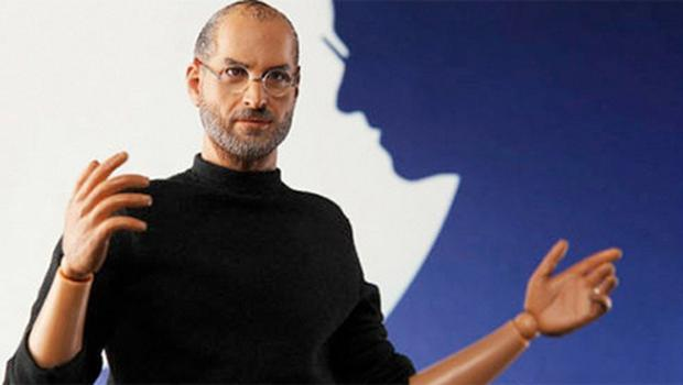 The action figure of the late Apple founder Steve Jobs.  Photo: www.inicons.com