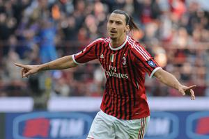 Ibrahimovic had scored his side's second goal of the game to help Milan open a four-point lead over Juventus at the top of the Serie A table. Photo: Getty Images