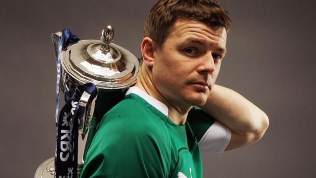 Brian O'Driscoll of Ireland poses with the trophy during the RBS Six Nations Launch. Photo: Getty Images