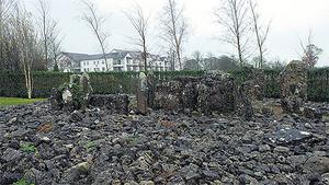 The Aughrim Wedge Tomb in the grounds of the Slieve Russell Hotel in Ballyconnell, Co Cavan