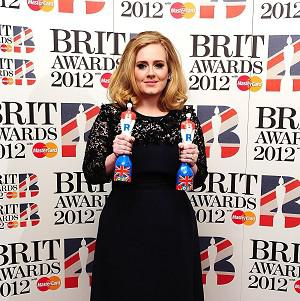Adele won two statuettes at the 2012 Brit Awards last week