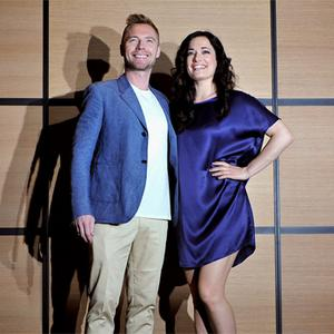 Ronan Keating and British actress Laura Michelle Kelly at the Cannes Film Festival yesterday. Photo: Getty Images