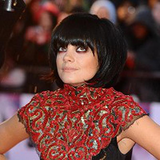 Lily Allen wowed fans on the red carpet in her spectacular dress