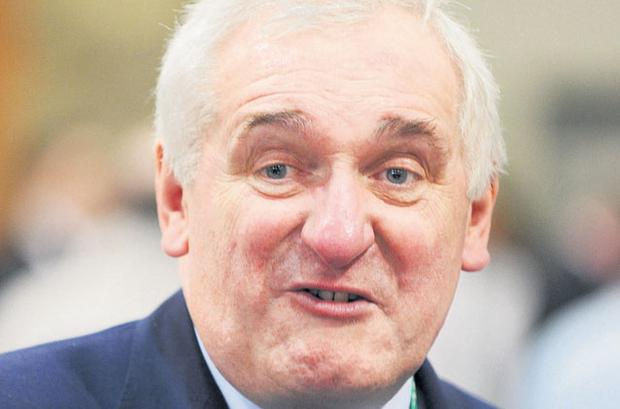 Former Taoiseach Bertie Ahern: 'Clearly aware that if you have half a mind to enter politics you will come more than adequately prepared.'