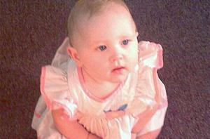 Angel Babcock the two-year-old found alive in a field ten miles from her home